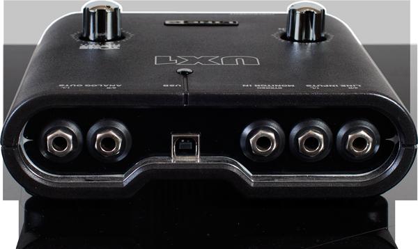 Line 6 POD Studio UX1 back panel of the recording interface image