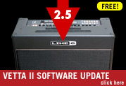 Vetta 2.5 gives you more Amps, Cabs, and Effects… FREE!
