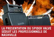 LA PRESENTATION DU SPIDER VALVE SÉDUIT LES PROFESSIONNELS DE NASHVILLE