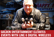 Golden Entertainment Group Elevates Events with Line 6 Digital Wireless