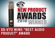 "XD-V70 WINS ""BEST AUDIO PRODUCT"" AWARD"