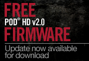 Free v2.0 Firmware Update For POD® HD Multi-effects