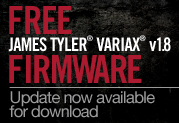 Free v1.8 Update for James Tyler Variax Modeling Guitars!