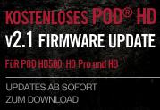 Jetzt verfügbar: Das kostenlose V2.1 Firmware-Update für den POD HD500, POD HD Pro und POD HD