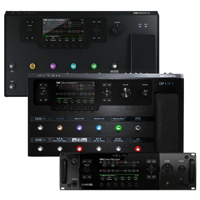 Line 6 Helix Flagship Multi Effects Processors With HX Guitar And Bass Amp