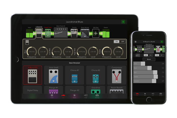 Line 6 Mobile POD 2.0 guitar and effects modeling app for iOS image of the tone editor