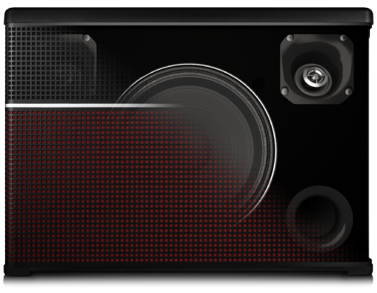 5-speaker design graphic of Line 6 AMPLIFi 75 & 150 guitar amp with bluetooth