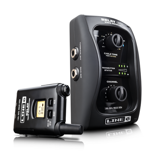 Line 6 Relay Guitar Wireless System G50 receiver and transmitter.