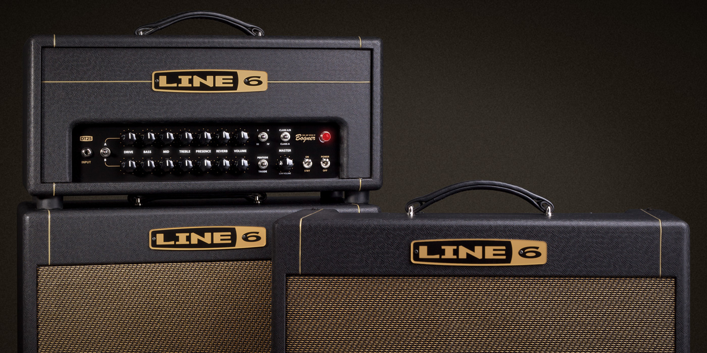 Line 6 DT 25 tube amp with with selectable power tube mode, selectable  operating class