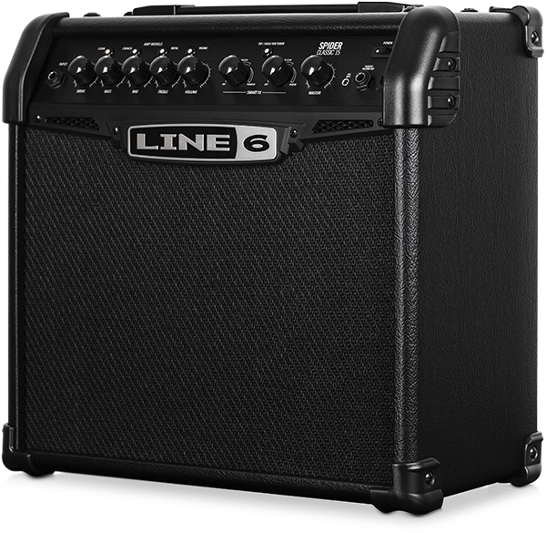 Line 6 Spider Classic 15 watt guitar amp with guitar and effects modeling for practicing and jamming