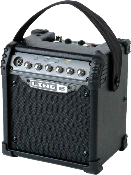 Line 6 Micro Spider guitar amp for practicing with amp and effects modeling