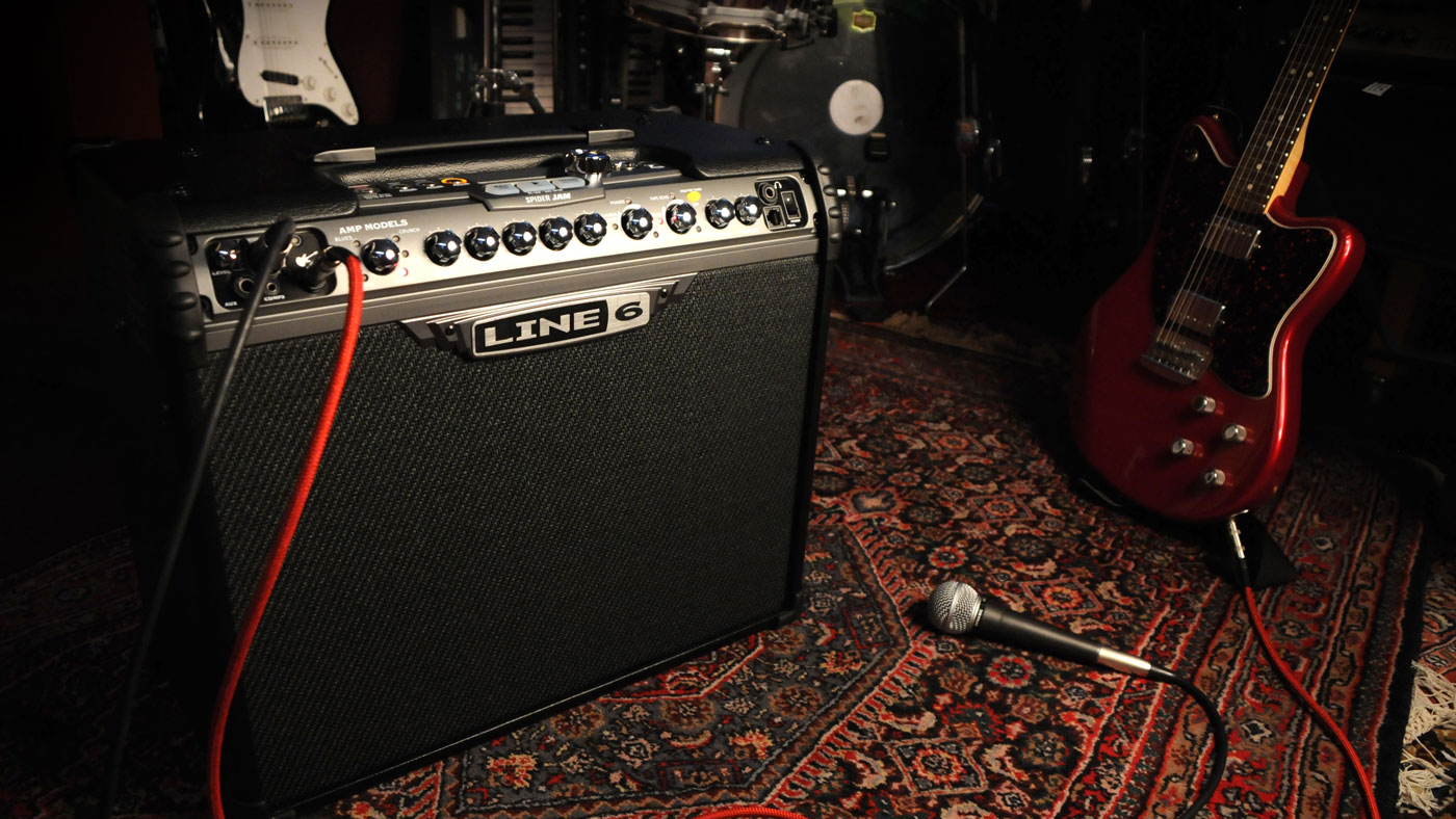 Line 6 Spider Jam guitar amp for practicing and jamming with guitar and amp modeling