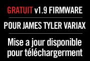 Mise à jour gratuite V1.9 pour guitares James Tyler Variax